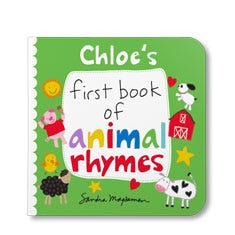 Your First Book of Animal Rhymes Personalized Board Book