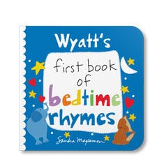 Your First Book of Bedtime Rhymes Personalized Board Book