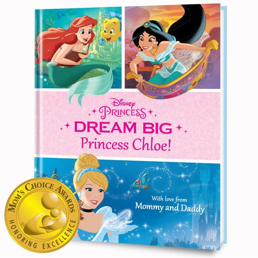 Disney's Dream Big, Princess personalized book