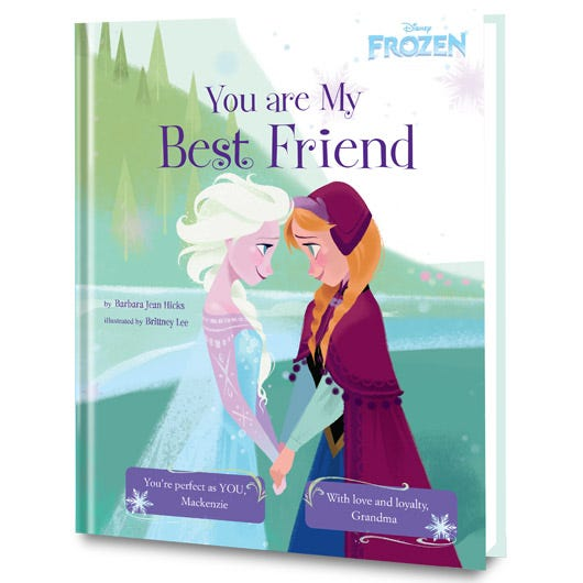 Frozen's You Are My Best Friend personalized book