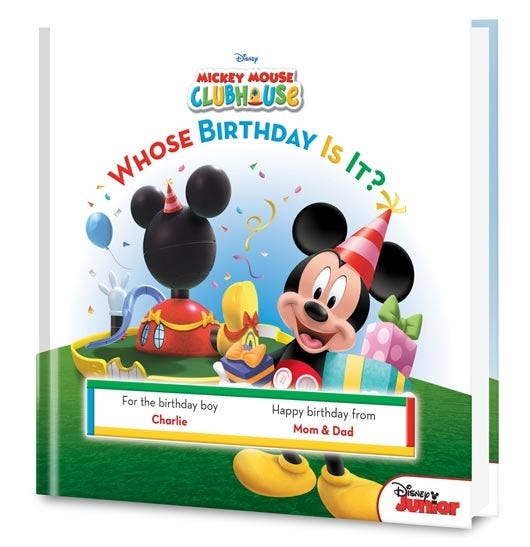 Mickey Mouse Clubhouse Whose Birthday Is It? personalized book
