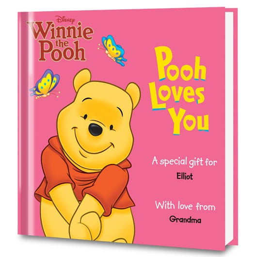 Pooh Loves You personalized book