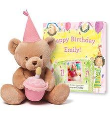 Pink Birthday Snuggles Bear Gift Set